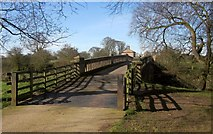 SE3953 : Bridge over Nidd, Ribston Park by Derek Harper