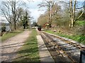 SJ9459 : The end of the line at Hunthouse Wood Station by Christine Johnstone