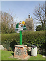 TF8709 : Necton village sign by Adrian S Pye