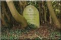 TF0343 : Headstone in Rauceby Hospital burial ground by Richard Croft