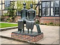 TQ0658 : King and Queen by Henry Moore at RHS Garden, Wisley by David Dixon