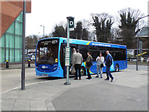 TQ2850 : Redhill:  A new Metrolink saloon bus by Dr Neil Clifton