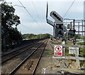 SJ8581 : Railway station signal MS3893 near a viaduct, Wilmslow by Jaggery