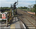 SJ8581 : Railway station signal MS4115 near a viaduct, Wilmslow by Jaggery