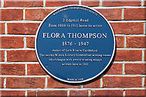 SZ0893 : Bournemouth Blue Plaques: No. 29 - Flora Thompson by Mike Searle