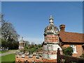 TM1580 : Finials on the gate posts at Thelveton Hall by Adrian S Pye