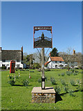 TM2885 : Homersfield village sign and new War Memorial by Adrian S Pye