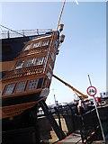 SU6200 : Stern footbridge, HMS Victory, Historic Dockyard, Portsmouth by Robin Sones