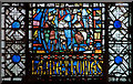 SK9771 : Detail, window s.XXX, Lincoln Cathedral by J.Hannan-Briggs