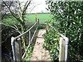 SK4319 : Footbridge over Grace Dieu Brook by Ian Calderwood
