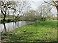 SO4381 : The River Onny below Craven Arms by Dr Duncan Pepper