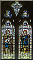 TQ4007 : Stained glass window, St Nicholas' church, Iford by Julian P Guffogg