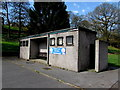 ST0594 : Building at the edge of Clydach Park paddling pool, Ynysybwl by Jaggery