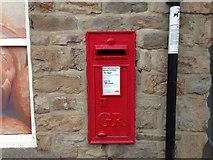 NY9038 : GR post box by Ayre