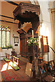 TF5065 : St.Peter & St.Paul's pulpit by Richard Croft