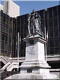 SU6400 : Queen Victoria statue, Guildhall Square, Portsmouth by Robin Sones