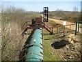 TL1908 : Colney Heath: Hatfield Quarry conveyor belt (1) by Nigel Cox