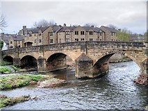 SE1039 : River Aire,  Ireland Bridge at Bingley by David Dixon