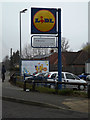 TM0459 : Lidl Supermarket sign by Adrian Cable