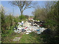 SE5808 : Fly tipping on the Balk (2) by Jonathan Thacker