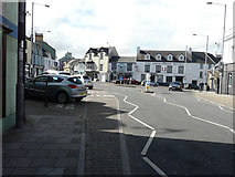 SM9537 : Roundabout in centre of Upper Fishguard by John Baker