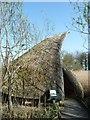 TQ0207 : Unusually shaped reed hide by Rob Farrow