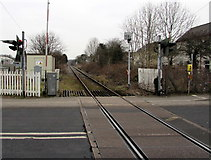 SN6212 : Heart of Wales Line north from Ammanford station towards Llandybie by Jaggery