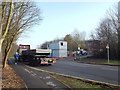 SP2964 : Contractor's offices and lorry delivering to car park site, Warwick Technology Park by Robin Stott