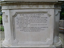 TQ3282 : South Side of John Wesley's Tomb (2) by David Hillas