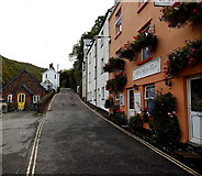 SS7249 : Narrow A road in Lynmouth by Jaggery