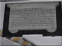 SD3598 : St Michael and All Angels, Hawkshead: memorial (x) by Basher Eyre