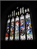 SD3598 : St Michael and All Angels, Hawkshead: stained glass window (V) by Basher Eyre