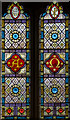 TQ4205 : Stained glass window, Southease church by Julian P Guffogg