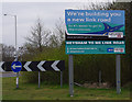 SD4562 : Heysham to M6 Link Road sign by Ian Taylor