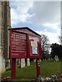 TM1473 : St.Peter & St.Paul Church Notice Board by Geographer