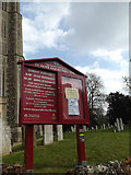 TM1473 : St.Peter & St.Paul Church Notice Board by Adrian Cable