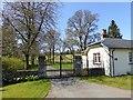 NT3911 : Gates to the Hoscote Estate by Oliver Dixon