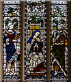 SO5040 : Detail, Stained glass window, All Saints' Hereford by Julian P Guffogg