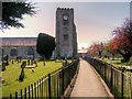 SH9477 : The Path Towards St Michael's Church by David Dixon