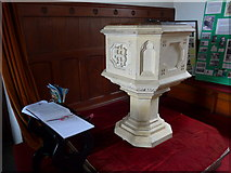 SD3389 : St Paul, Rusland: font by Basher Eyre