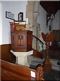 SD3389 : St Paul, Rusland: pulpit by Basher Eyre