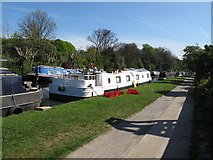 TQ2282 : The Max & Belle - canal boat on Paddington Arm, Grand Union Canal by David Hawgood