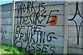 SJ8846 : Banksy-esque Graffiti by Stu JP