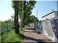 TQ1573 : Path between a depot and the railway line, Twickenham by Christine Johnstone