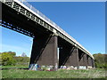 SE3806 : Railway viaduct over The River Dearne by Neil Theasby