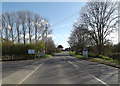 TM3958 : Entering Snape on the B1069 Church Road by Geographer