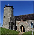 TF9532 : Little Snoring; St Andrew's Church; Tower by Michael Garlick
