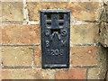 TL4575 : Ordnance Survey Flush Bracket 1208 by Peter Wood