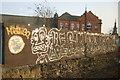 NZ2564 : Graffiti wall, Manors Railway Station by JThomas