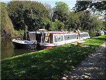 TQ2282 : Romsey No 9 - narrowboat on Paddington Arm, Grand Union Canal by David Hawgood